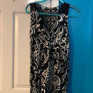 Crochet-Back Sleeveless Dress